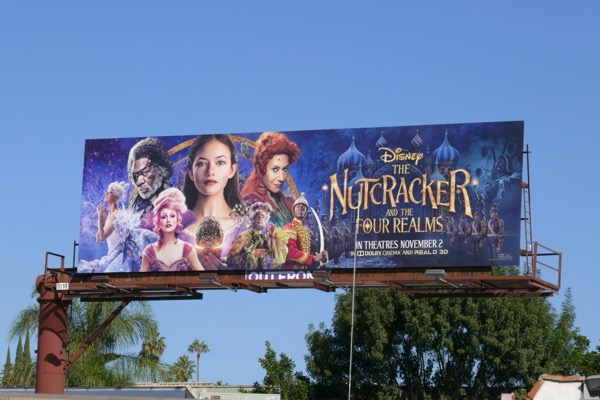 Disney Nutcracker Four Realms billboard
