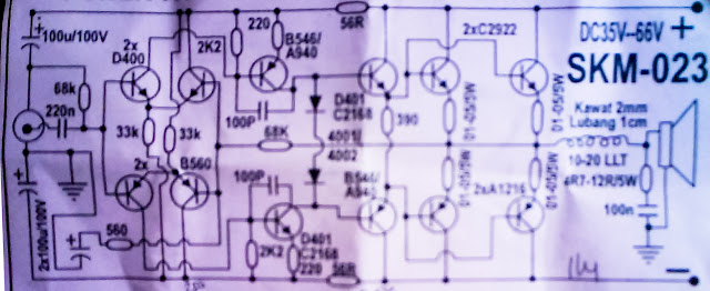 1200W power amplifier with sanken