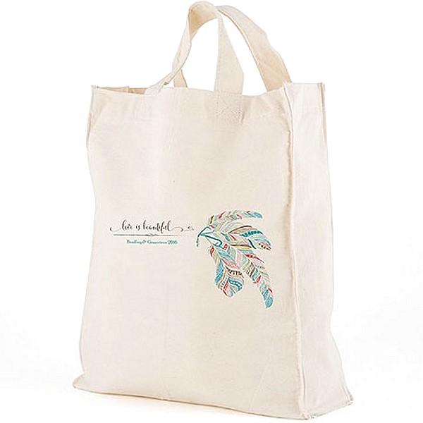 Canvas Wedding Gift Bag