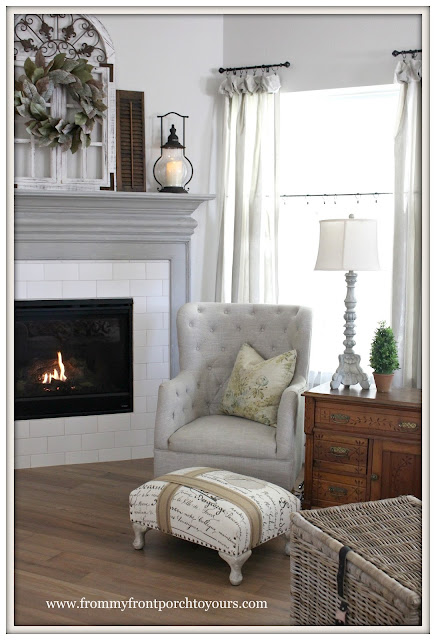 Farmhouse Fireplace-French Farmhouse-DIY Fireplace Makeover-From My Front Porch To Yours