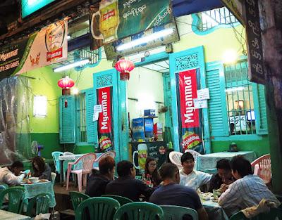 Dinner in Chinatown having fun