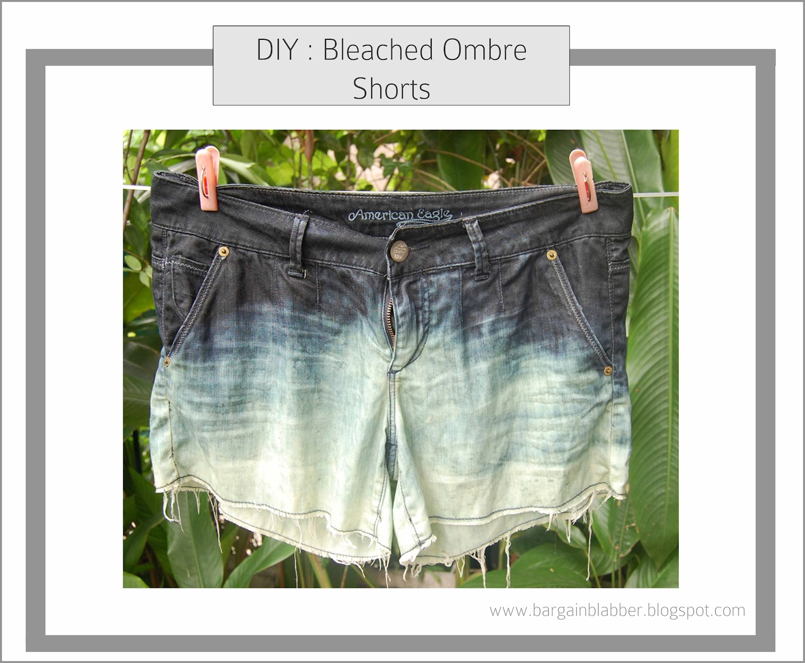 DIY: Bleached Ombre Shorts ~ Bargain Blabber