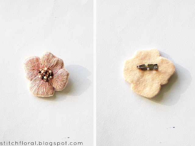 DIY embroidered brooch tutorial