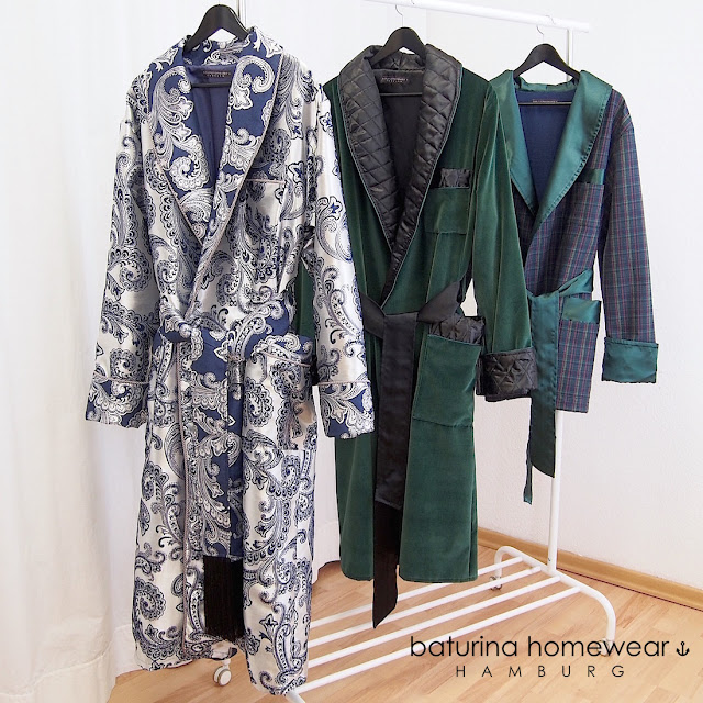 men traditional dressing gown sulka robe long silk paisley brocade luxury lined warm thick long housecoat navy blue silver grey