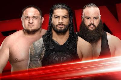 Roman Reigns Wins Triple Threat Match over Samoa Joe, Braun Strowman on WWE Raw