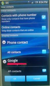 Galaxy ace android contacts missing issue solution