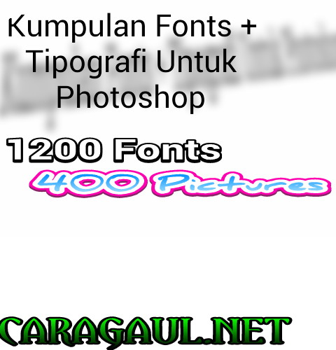 Kumpulan Fonts Tipografi Untuk Photoshop