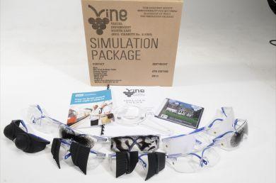 paquete de 10 gafas y dvd de Vine Sim Specs