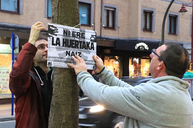 Encartelada contra el juicio a La Huertaka