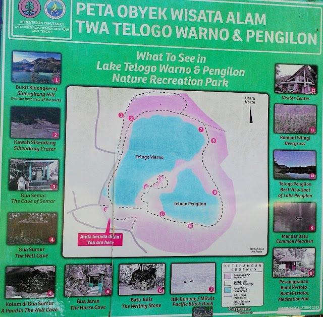 Peta Telaga Warna Dieng Maps