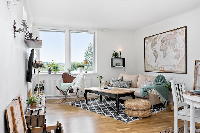 Lovely deco un petit appartement au style recup for Appartement deco recup