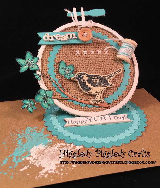 Higgledy piggledy crafts embroidery hoop circle easel