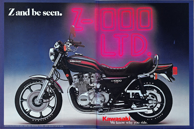 Racing Caf U00e8  Vintage Brochures  Kawasaki Z