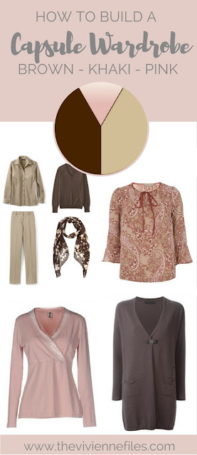 How to build a capsule wardrobe in a brown beige and pink color palette