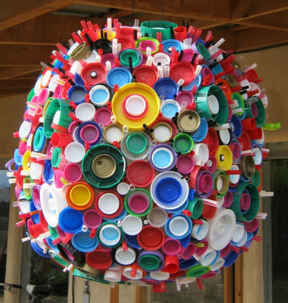 Make something 365 get unstuck recycle girl follow up for Bottle top art projects