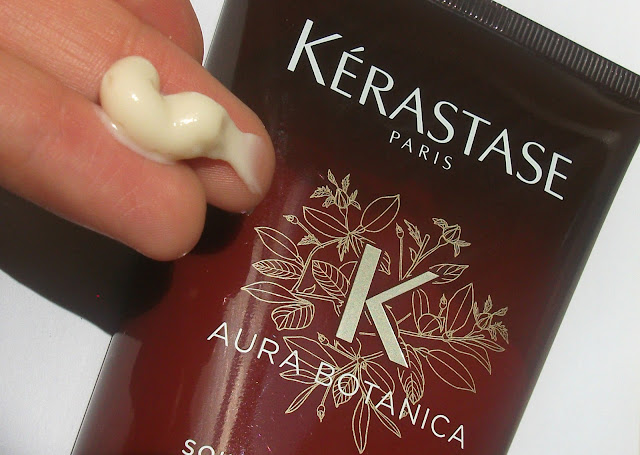 Kérastase Aura Botanica Soin Fondamentale deep hydration treatment. The detail: formula and texture