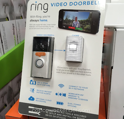 See who is at the door with the Ring Video Doorbell and Wireless Chime