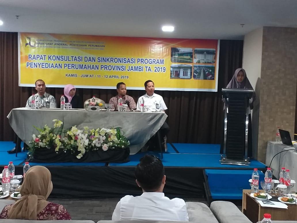 Kadis PUPR Provinsi Jambi Buka Rapat Konsultasi Dan Sinkronisasi Program Penyediaan Perumahan Provinsi Jambi.
