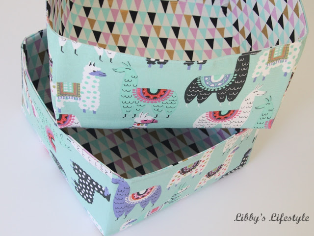 Learn how to make a fabric storage basket. Tutorial by Libby's Lifestyle