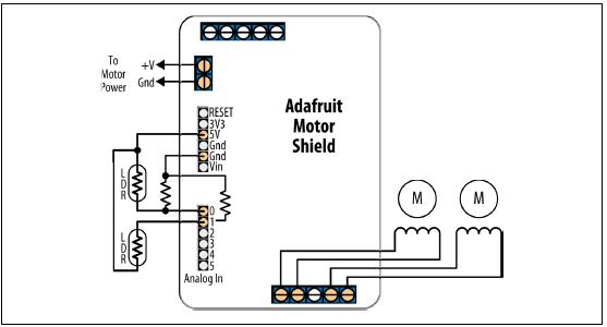 Arduino adafruit motor shield