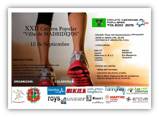 XXII Carrera Popular Villa de Madridejos