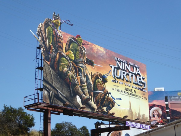 Teenage Mutant Ninja Turtles Out of Shadows billboard