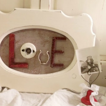 Upcycled Valentine Picture Frame