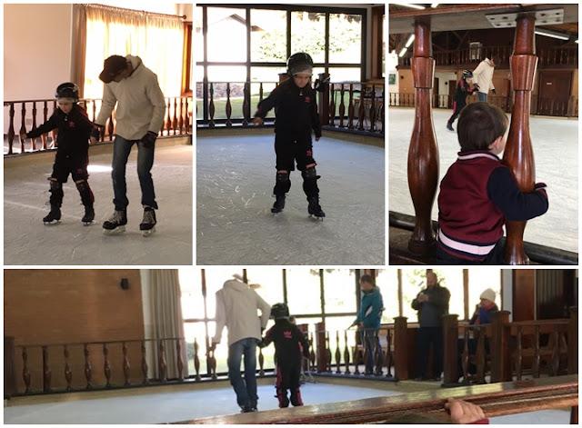 patinação no gelo em Monte Verde