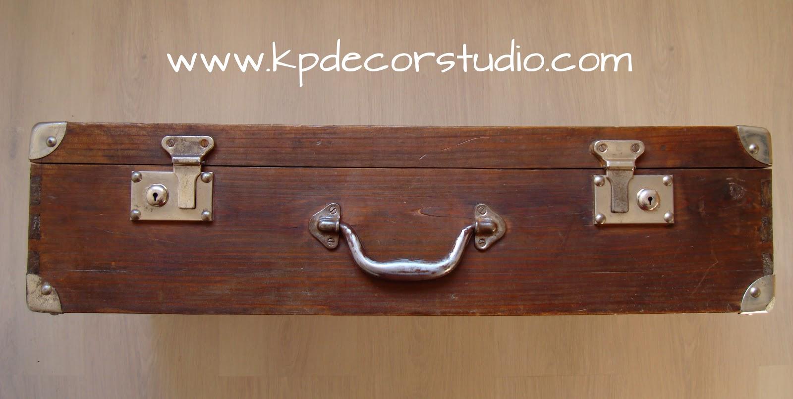 Kp decor studio maleta de madera antigua old wooden - Comprar decoracion vintage ...