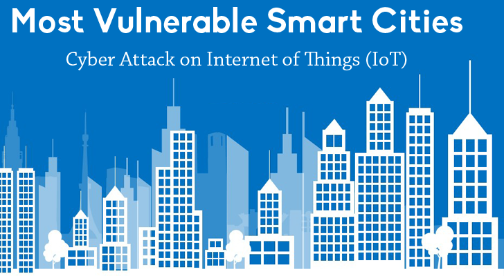Most Vulnerable Smart Cities To Cyber Attack On Internet