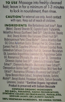Avalon Organics Volumizing Rosemary Conditioner ingredients
