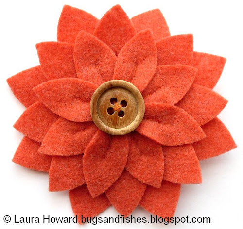 Bugs And Fishes By Lupin: How To: Large Felt Flower Brooches