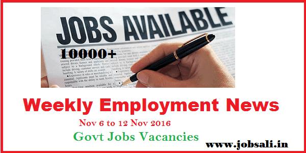 Employment News, Govt jobs, job Search,