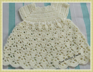 free crochet pattern, free crochet baby dress pattern,
