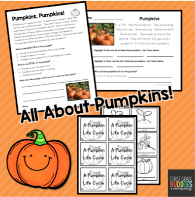 https://www.teacherspayteachers.com/Product/All-About-Pumpkins-Reading-Comprehension-Fall-Activities-971103