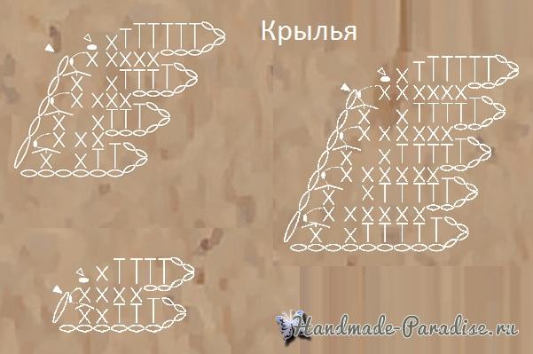 Схемы вязания крыльев лебедя