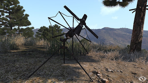 Arma3用RG1523GつきILBEマンパック無線機アドオンの衛星通信アンテナ