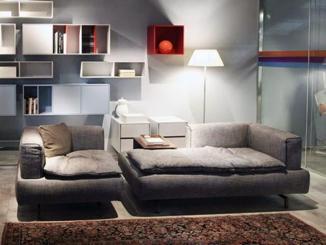 diseño sala elegante y moderna