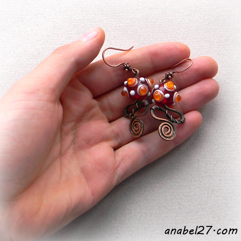 купить медные серьги в анабель anabel jewelry