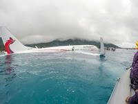 Menegangkan, WNI Jadi Korban Pesawat Air Niugini yang Mendarat di Laut