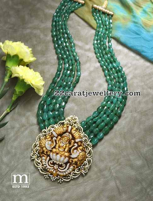 Five Layer Emerald Haram by Mahalaxmi Jewellers