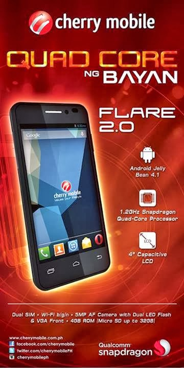 Cherry Mobile Flare Quad Core ng Bayan 2 for only 3999 pesos