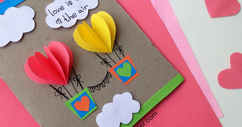 Hot Air Balloon Folded Note Cards