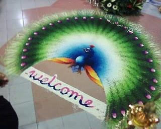 Rangoli Peacock Design, Peacock Rangoli Patterns, Peacock Rangolis, Peacock Rangoli Designs