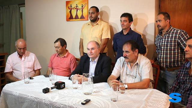 Martinez Senador Nacional pasó por Monte Maíz