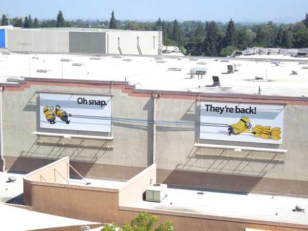 Despicable Me 2 billboard installation Universal Studios Hollywood
