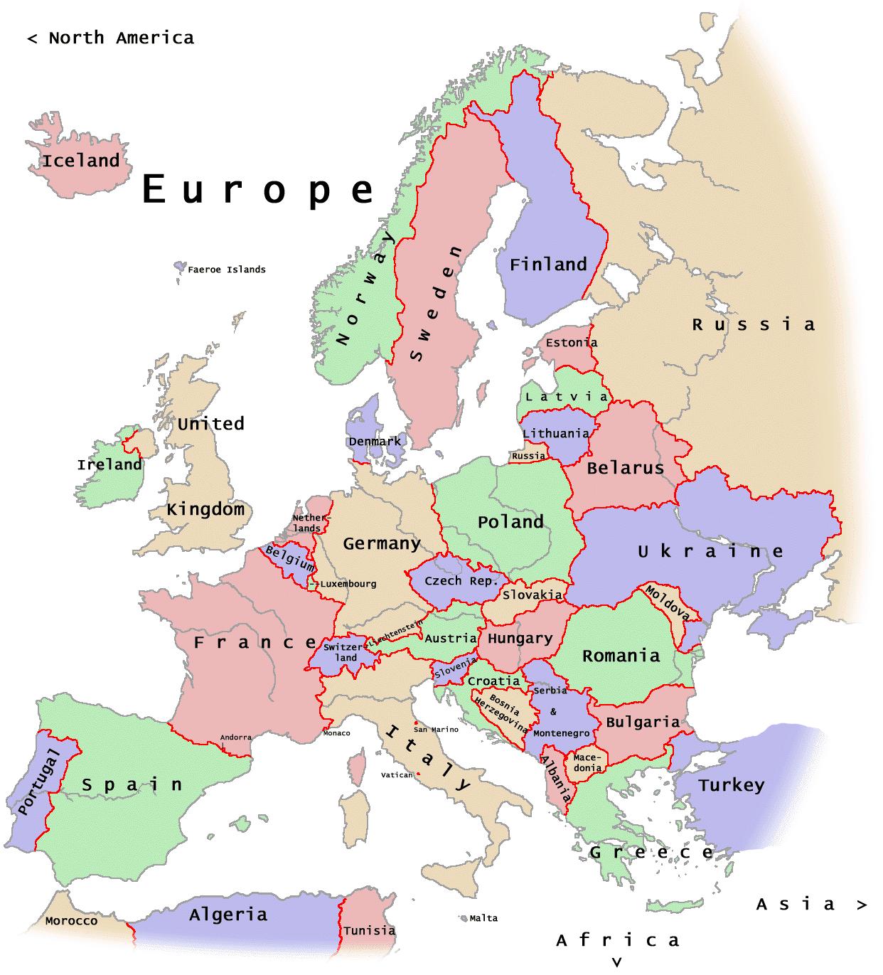 politisk kart Europa Kart Politisk Bilder politisk kart