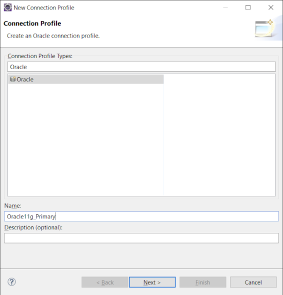 Steps to connect Eclipse to Oracle 11g