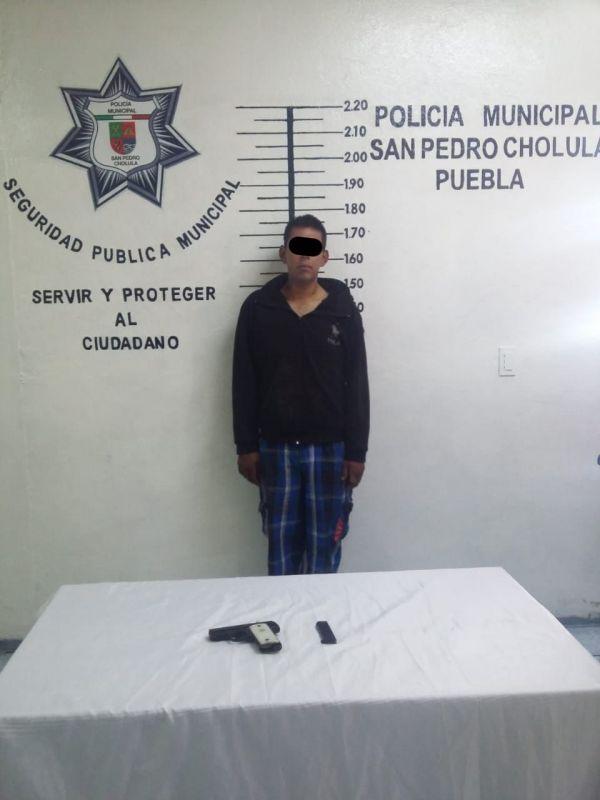 Detiene policía de Cholula a sospechoso
