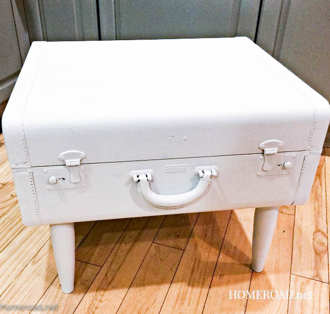 Repurposed Vintage Suitcase Table